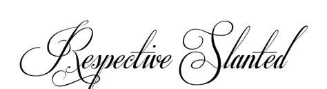 Respective Slanted Tattoo Font Generator | respective slanted font