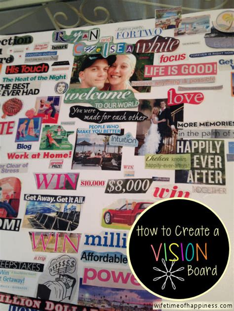 how to create a vision board one that make a vision board archives wifetime of happiness