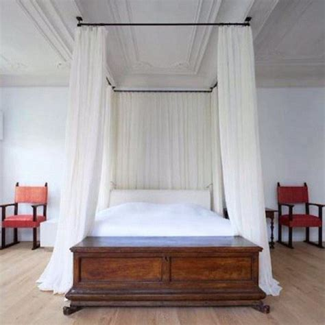 curtain rod canopy diy curtain rod bed canopy