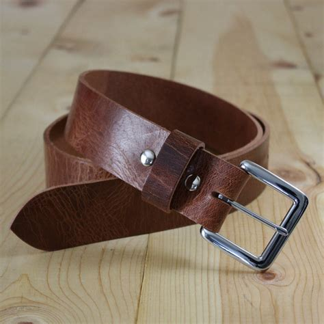 Handcrafted Leather Belts - handmade genuine buffalo leather belt men s