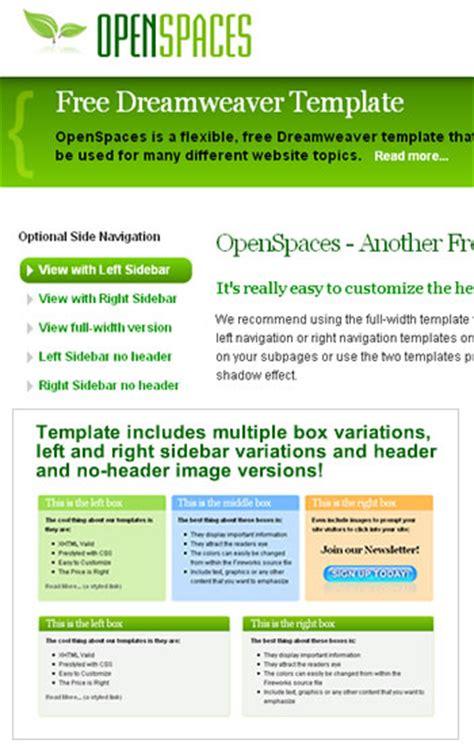 Free Dreamweaver Templates And Website Templates Dreamweaver Website Templates