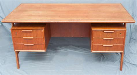 A Teak Wood Danish Free Standing Desk Designed By Gunni Free Standing Desks