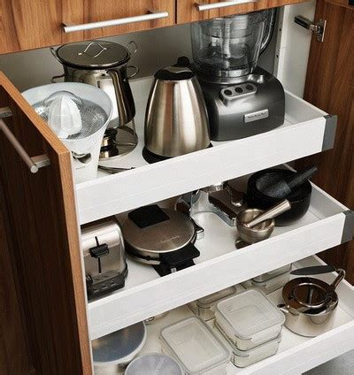 kitchen appliance storage 40 appliance storage ideas for smaller kitchens