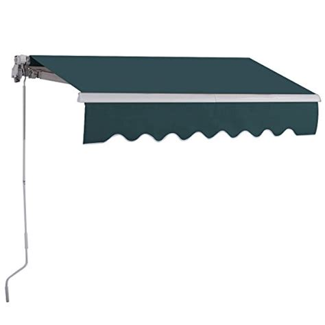 Manual Retractable Awning by Goplus Manual Retractable Awning Patio Canopy Deck