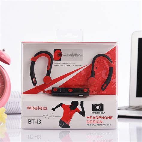 Dijamin Headset Earphones Stereo Bluetooth Bt13 wholesale bluetooth stereo wireless sports headset bt13