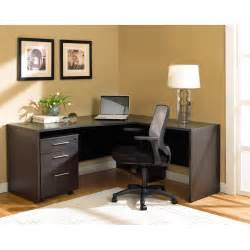 Desk with three portable drawers added white shade table lamp on it