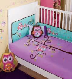 Baby Bedding Sets Owls Nw Baby Purple Violet Aqua Baby Owl Crib Sheets
