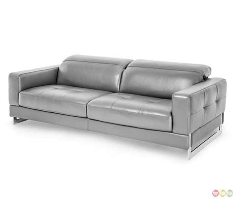 modern genuine leather sofa michael amini mia bella dark grey modern genuine leather