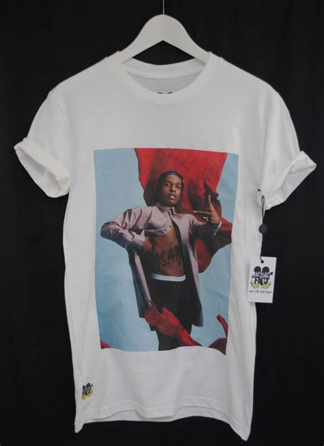 supreme clothing australia actual fact t shirt asap rocky flag rap hip hop