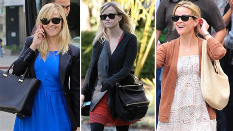 Reese Jakes Cuddly Walk With Bottega Veneta the many bags of reese witherspoon purseblog