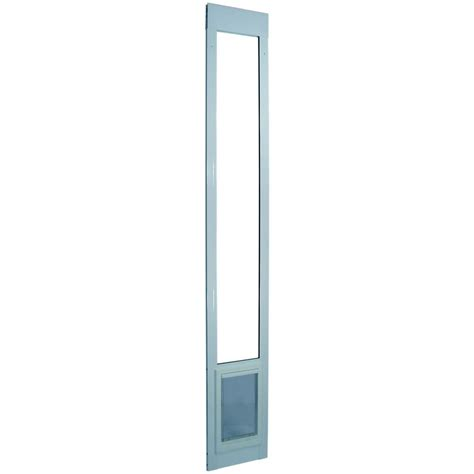 Ideal Pet Patio Door Ideal Pet 5 In X 7 In Small White Aluminum Pet Patio Door Fits 93 75 In To 96 5 In