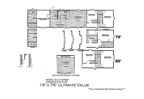 ultimate floor plans ultimate value ult16763p 3 bed 2 bath mobile home for sale