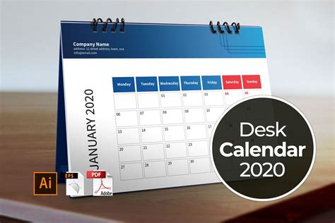 desk calendar template   stationery templates creative market