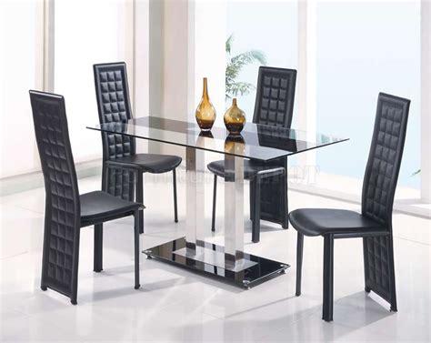 glas esszimmertisch basen contemporary 5pc dinette glass top table w black glass base