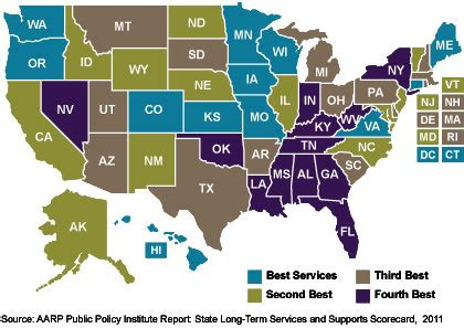 best state for state services for physically disabled adults