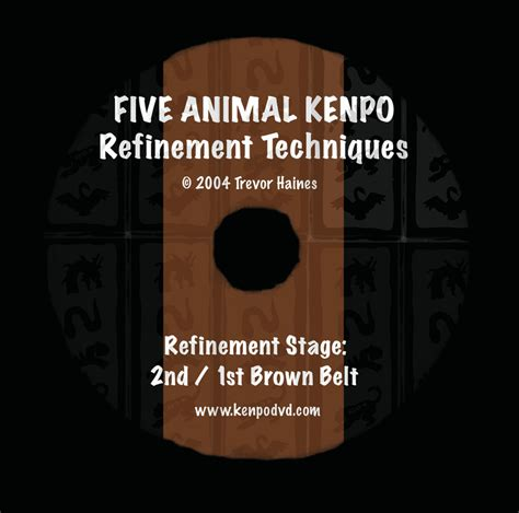five animal kenpo dvds by trevor haines five animal