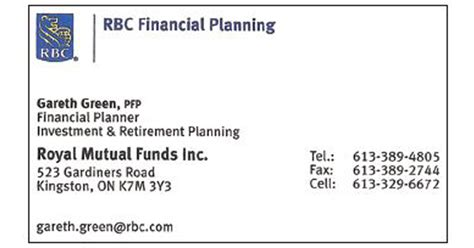 Mba In Insurance And Financial Planning by Gareth Green Rbc Financial Planning Mills
