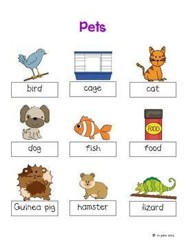 espagnol 100 thme pet themed word cards and word walls in english and spanish pets spanish and improve your english