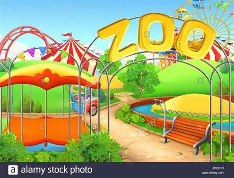 zoo background zoo vector background amusement park children