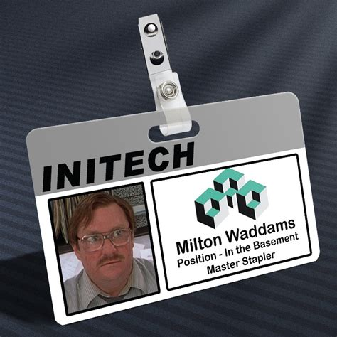 Badge Office by Office Space Milton Waddams Prop Id Badge The Away Mission