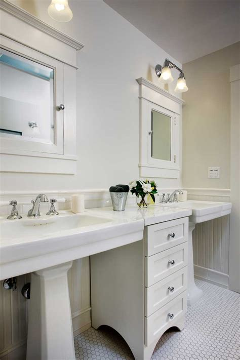 Cabinets For Pedestal Bathroom Sinks by Fitting Luxury Arts Crafts Homes And The Revival
