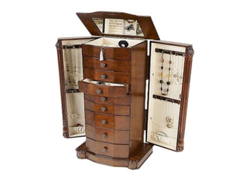 louis xvi jewelry armoire hives honey louis xvi walnut jewelry armoire at 199 99