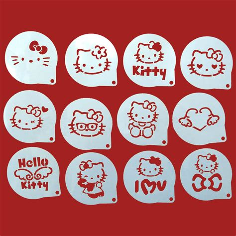 Stencils For Cookie Decorating by 12pcs Lots Cat Figure Decorating Coffee Stencils