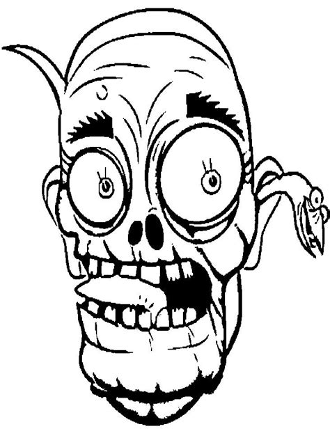 zombie mask coloring page face cartoon zombie coloring page coloring