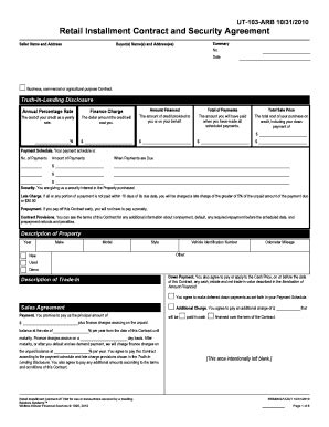 Retail Installment Contract Motor Vehicle Impremedia Net Retail Installment Contract Template