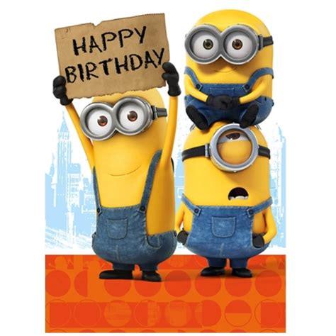 Minions Happy Birthday Card Minion Movie Birthday Card Danilo