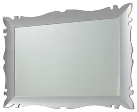 silver framed bathroom mirrors versalles framed mirror 43 quot silver gloss contemporary