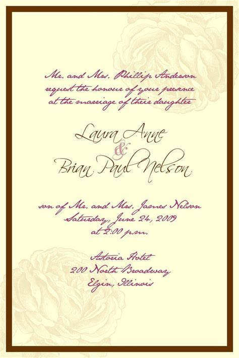 The 25  best Wedding invitation wording ideas on Pinterest