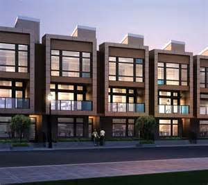 Contemporary Townhouse by Contemporary Townhouses With A Punch Chroma Townhomes For