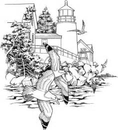 Chinese Moon Vase Landscape Coloring Page