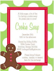 Cookie exchange invitations and sweet treat gift tags sweet peach