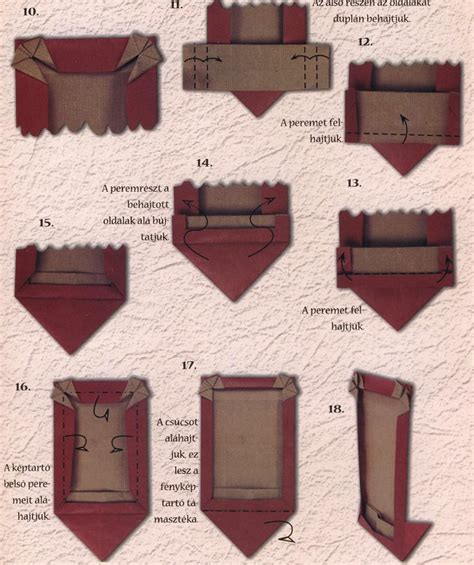 How To Make Paper Picture Frames - frame for photo origami style