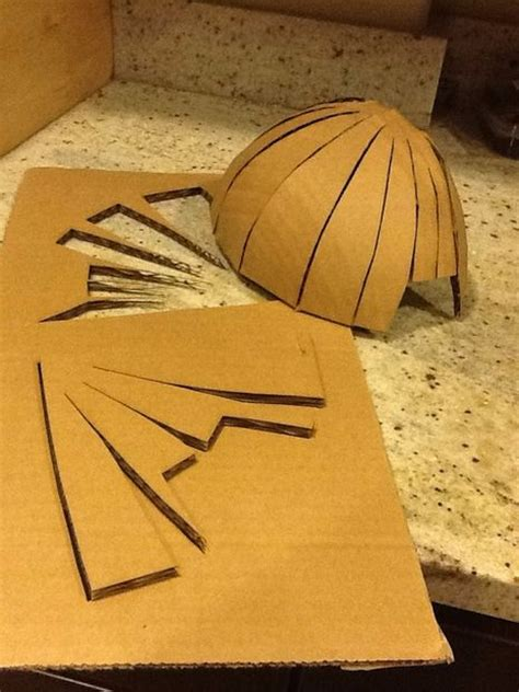 How To Make A Paper Dome Step By Step - cardboard stormtrooper helmet