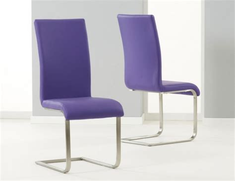 Purple Leather Dining Chairs Monterey Purple Faux Leather Dining Chairs