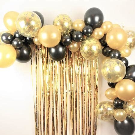 Black and Gold Balloon Garland Kit I Balloon Cloud