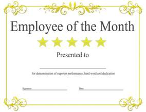 Editable Award Certificate Template Epic Editable Template Example Of Employee Of The Month