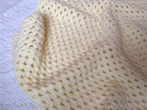 large crib size crochet baby blanket by brynngo on etsy