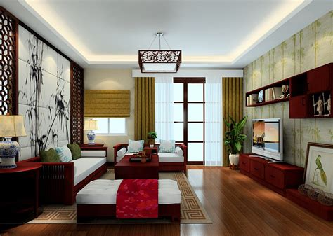 Japanese Living Room by 2015 Chinese House Decoration Bamboo Theme Interior Design