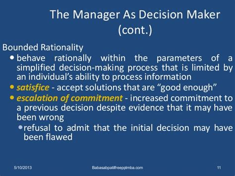 The Mba Decision by Decision The Essence Of Managers Mba