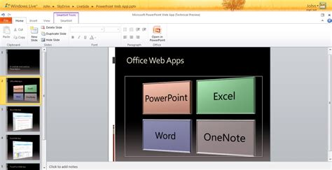 A Closer Look At Office Web Apps In Windows Live Powerpoint App