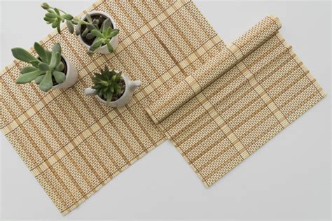 Napkin Damask Putih bamboo table runner bamboo runner sto 28 bamboo woven damask table cloth tablecloth