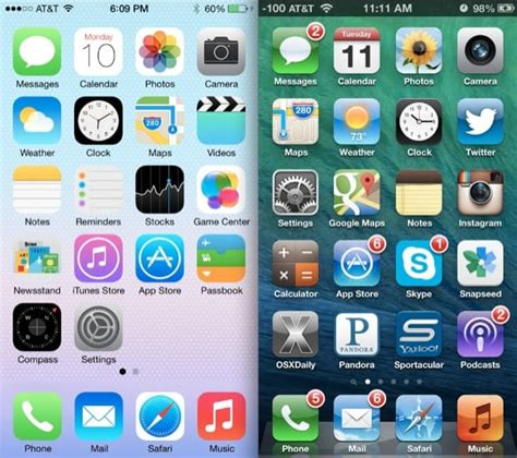 ios layout iphone 6 ios 7 vs ios 6 conhe 231 a as principais diferen 231 as