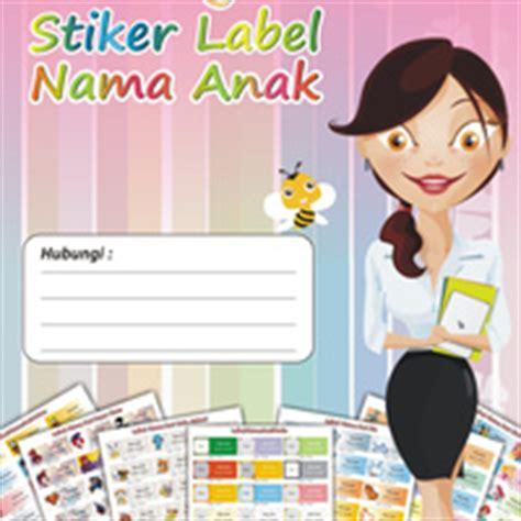Sticker Nama Cutout Cutting Sticker Set6 jual dvd template sticker label nama anak sprint shop