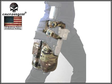 Emerson Mp7 Smg Tactical Drop Leg Holster Aor 1 emersongear multicam tactical for right for airsoft mp7 drop leg holster thigh pistol