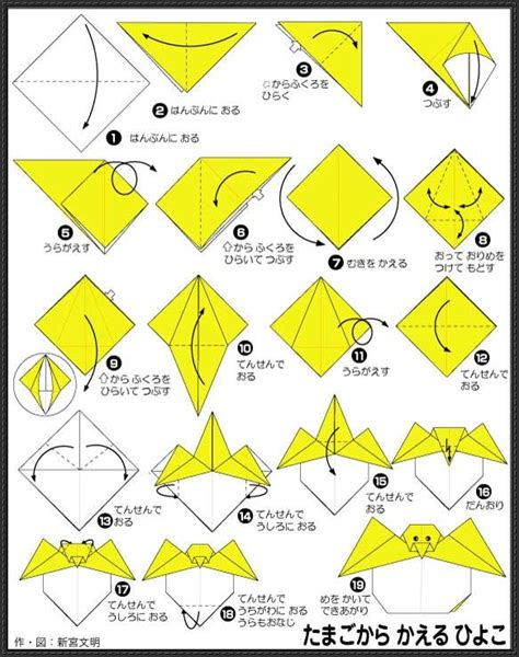 Origami Pokemons - origami step by step images images