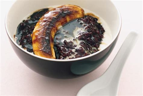 black rice pudding thai black sticky rice pudding recipe